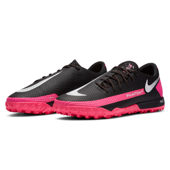 Nike React Phantom GT Pro Touch and Turf Boots Black/Silver US Mens 10 / Womens 11.5, Black/Silver, rebel_hi-res