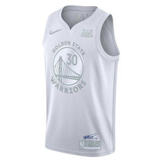 Nike Golden State Warriors Steph Curry 2020 MVP Jersey Silver S, Silver, rebel_hi-res