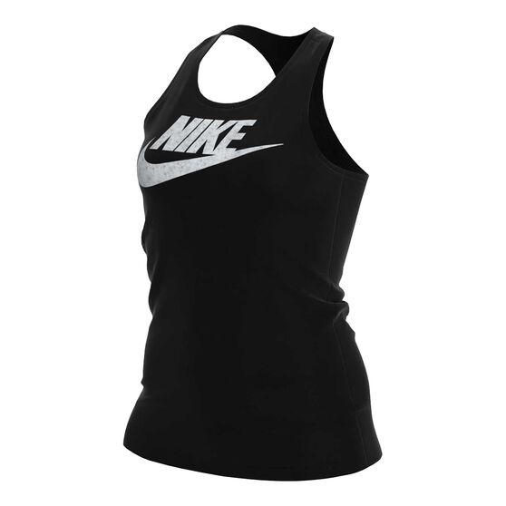 Nike Womens Sportswear Femme Shine Tank, Black, rebel_hi-res