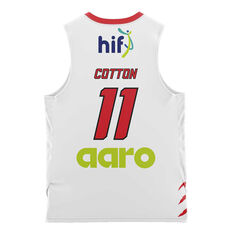 Perth Wildcats  Away Bryce Cotton 20/21 Kids Away Jersey White 4, White, rebel_hi-res