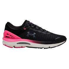 Under Armour Charged Intake 3 Womens Running Shoes Black / Pink US 6, Black / Pink, rebel_hi-res
