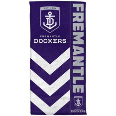 Fremantle Dockers Beach Towel, , rebel_hi-res