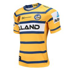 Parramatta Eels 2020 Mens Away Jersey Yellow / Blue S, Yellow / Blue, rebel_hi-res