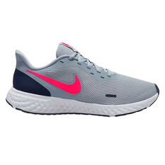 Nike Revolution 5 Mens Running Shoes Grey/Crimson US 7, Grey/Crimson, rebel_hi-res