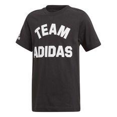 adidas Boys VRCT Varsity Tee, Black / White, rebel_hi-res