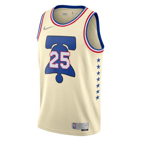 Nike Philadelphia 76ers Ben Simmons 2020/21 Mens Earned Jersey, Neutral, rebel_hi-res
