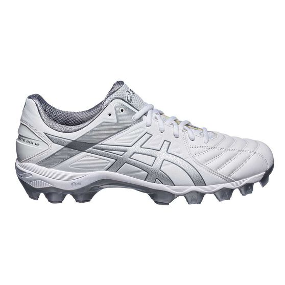 1d1fafda515e Asics GEL Lethal Ultimate IGS 12 Mens Football Boots White   Silver US 8.5  Adult