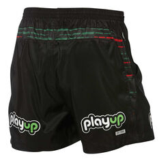 South Sydney Rabbitohs 2019 Mens Training Shorts Black XL, Black, rebel_hi-res
