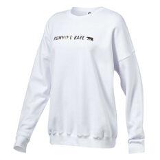 Running Bare Womens Heritage Sweater White 8, White, rebel_hi-res