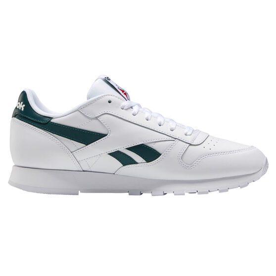 Reebok Classic Leather Casual Shoes, White/Green, rebel_hi-res