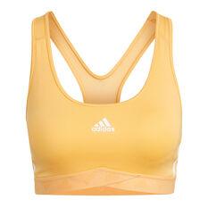 adidas Womens Mesh Sports Bra Orange XS, Orange, rebel_hi-res
