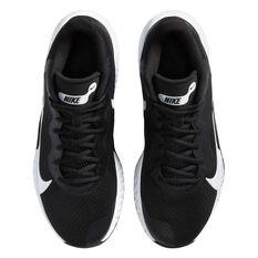 Nike Renew Elevate Mens Basketball Shoes, Black/White, rebel_hi-res