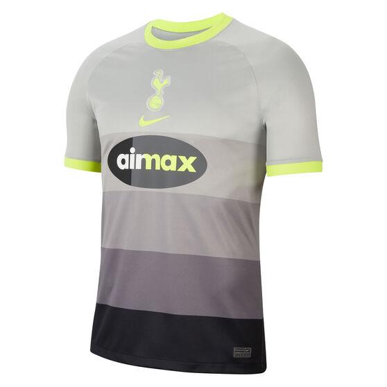 Tottenham Hotspur 2020/21 Mens Air Max 4th Jersey Grey S, Grey, rebel_hi-res