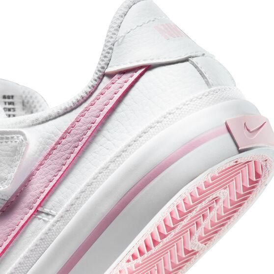Nike Court Legacy Kids Casual Shoes, White/Pink, rebel_hi-res