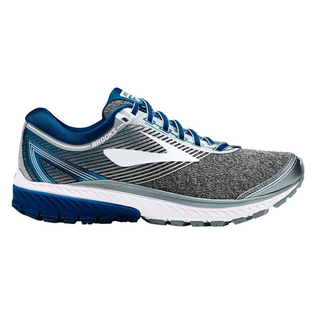 d618a029f16 Brooks Ghost 10 Mens Running Shoes Silver   Blue US 11