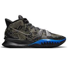 Nike Kyrie 7 Grind Basketball Shoes Black US 7, Black, rebel_hi-res