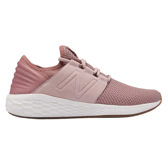 New Balance Fresh Foam Cruz Womens Running Shoes, Pink / White, rebel_hi-res
