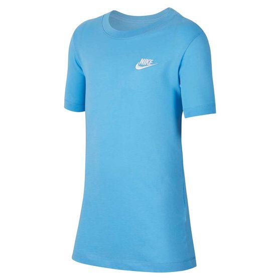 Nike Sportwear Boys Futura Tee, Blue / White, rebel_hi-res
