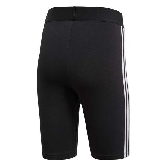 adidas Womens Must Haves 3 Stripes Short Tights, Black, rebel_hi-res