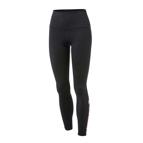 Running Bare Womens Ab Waisted Wots Tights, Black, rebel_hi-res