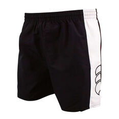 Canterbury Mens Panelled Tactic Shorts Black / White S, Black / White, rebel_hi-res