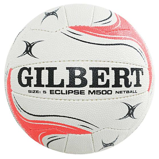Gilbert Diamonds Eclipse M500 Netball White / Green 5, , rebel_hi-res