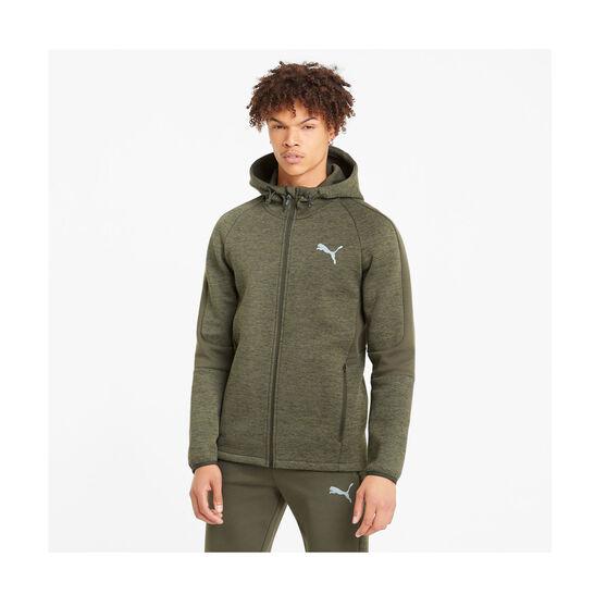 Puma Mens Evostripe Full-Zip Hoodie, Green, rebel_hi-res