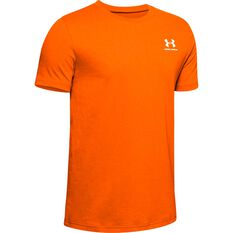 Under Armour Boys Sportstyle Tee Orange / White XL, Orange / White, rebel_hi-res