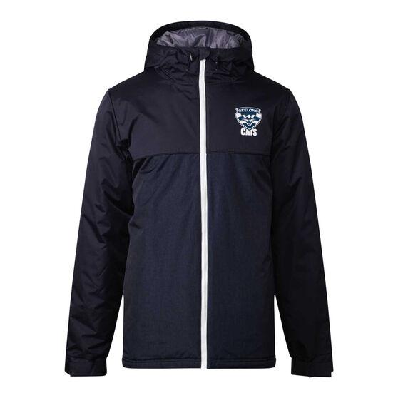 Geelong Cats 2021 Mens Retro Stadium Jacket, Navy, rebel_hi-res