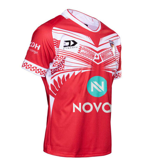 Tonga 2020 Mens Home Jersey, Red, rebel_hi-res