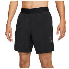 Nike Mens Flex Yoga Shorts Black S, Black, rebel_hi-res