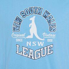 NSW State of Origin Mens Vintage Tee Blue S, Blue, rebel_hi-res