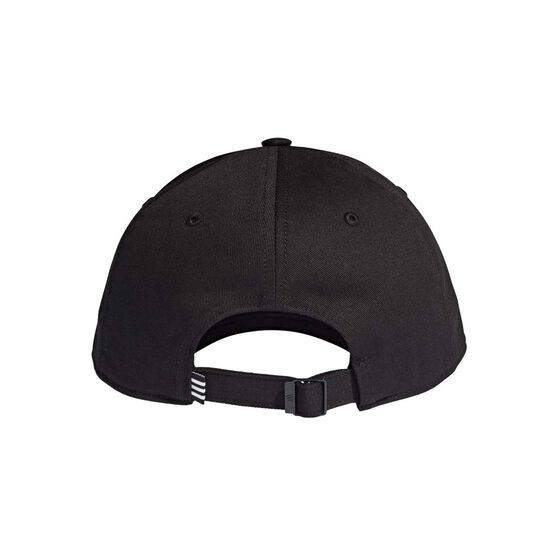 adidas Mens Baseball Cotton Twill Cap Black OSFA, Black, rebel_hi-res
