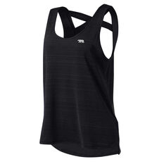 Running Bare Womens Cosmic Tank Black 8, Black, rebel_hi-res