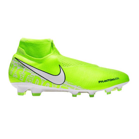 Nike Mercurial Phantom Vision Elite Dynamic Fit Football Boots, Green / White, rebel_hi-res