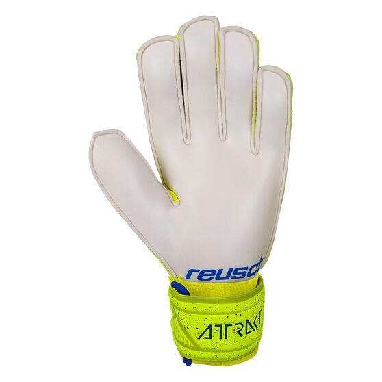 Reusch Attrack Solid Junior Goalkeeping Gloves, Yellow, rebel_hi-res