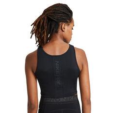 Nike Pro Womens Tank Black XS, Black, rebel_hi-res