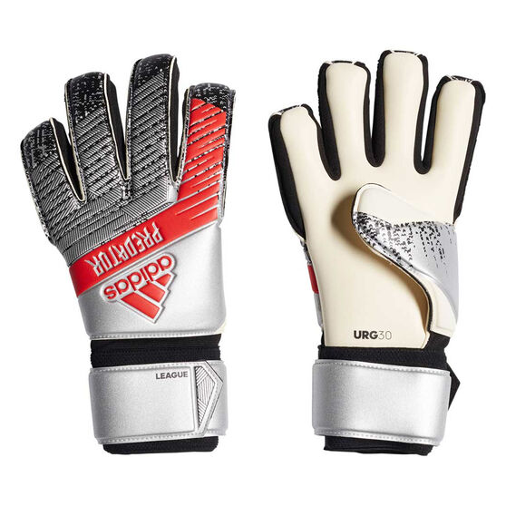 adidas Predator League Goal Keeping Gloves, Silver / Black, rebel_hi-res