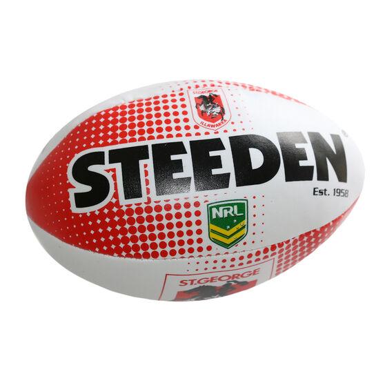 Gray Nicolls NRL St. George Illawarra Dragons Sponge Rugby Ball, , rebel_hi-res