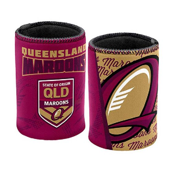 QLD Maroons State of Origin 2019  Stubby Holder, , rebel_hi-res