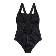 Roxy Womens Fitness Logo One Piece Black XS, Black, rebel_hi-res