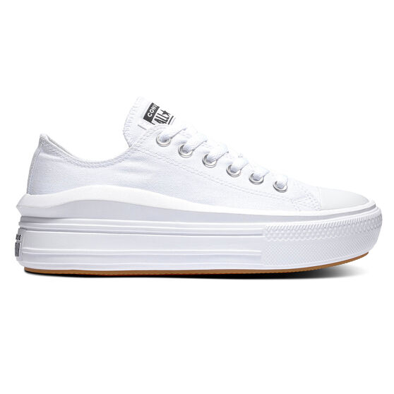Converse Chuck Taylor All Star Move Platform Womens Casual Shoes, White, rebel_hi-res