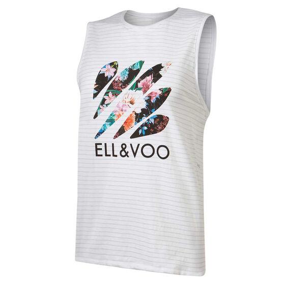 Ell & Voo Womens Taylor Muscle Tank, Grey, rebel_hi-res