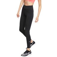 Nike Womens One Tights, Black / White, rebel_hi-res