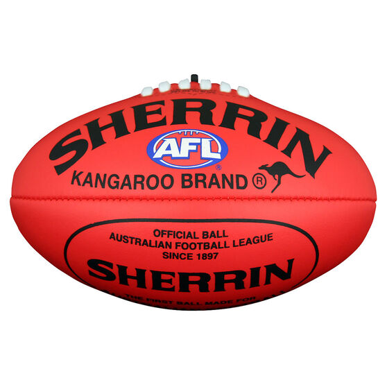 Sherrin Soft Touch Mini Australian Rules Ball Red 6in, , rebel_hi-res