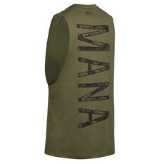 Under Armour Mens Project Rock Mana Tank Green XS, Green, rebel_hi-res