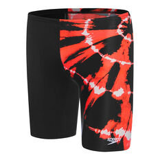 Speedo Boys School Colours Jammer Black 6, Black, rebel_hi-res