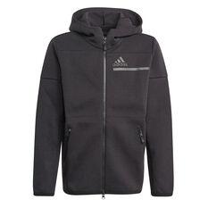 Adidas Boys ZNE Full Zip Hoodie Black 5, Black, rebel_hi-res