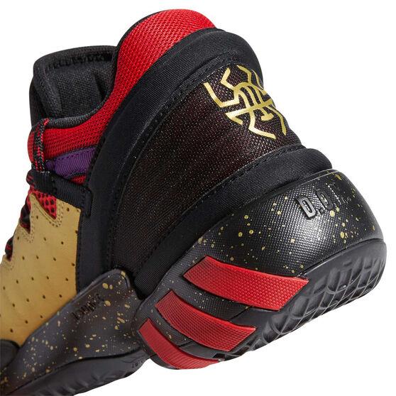 adidas D.O.N. Issue 2 Kids Basketball Shoes, Black, rebel_hi-res