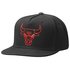 Mitchell and Ness Chicago Bulls Outline Cap Black OSFA, , rebel_hi-res